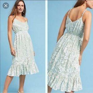 Hemant & Nandita Anthropologie Seagrass Dress